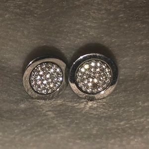 Michael Kors silver Studded Earrings